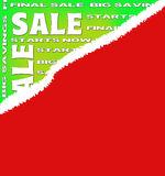 Sale poster for every shopping season Royalty Free Stock Photo