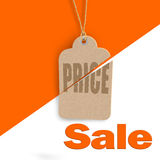 Sale poster, flyer tag concept isolated on white Royalty Free Stock Images