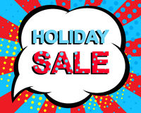 Sale poster with HOLIDAY SALE text. Advertising vector banner vector illustration