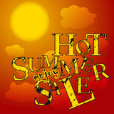 Sale poster hot summer Stock Photos