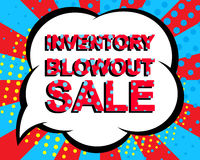 Sale poster with INVENTORY BLOWOUT SALE text. Advertising vector banner Royalty Free Stock Photo