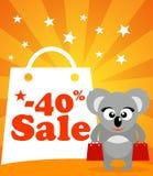 Sale poster with koala Stock Photo
