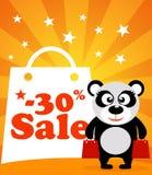 Sale poster panda monkey Stock Photography