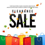 Sale Poster with paper shopping bags and lights. Spesial Offer Royalty Free Stock Images