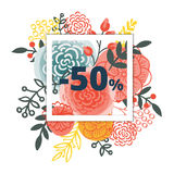 Sale poster with percent discount Royalty Free Stock Image