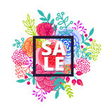 Sale poster with percent discount Royalty Free Stock Photos
