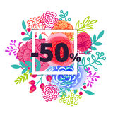Sale poster with percent discount Stock Photos