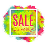 Sale poster with percent discount Stock Image