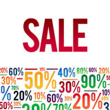 Sale Poster with percent discount illustration. Spesial Offer.  Stock Photography