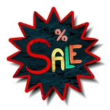 Sale poster with percent discount Royalty Free Stock Images