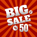Sale poster with percent discount. vector. illustration.   Stock Photos