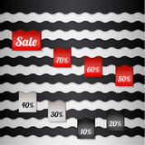 Sale poster with percent discount Stock Photography