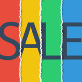 Sale poster. Sale banner. Torn paper effect. Stock Photo