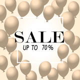 Sale Poster with Shiny Balloons Background with Square Frame. Vector illustration. Sale Poster with Shiny Balloons Square Frame. Vector illustra Royalty Free Stock Image