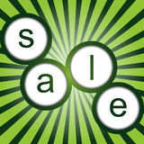Sale poster with sunburst Royalty Free Stock Image