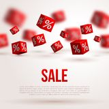 Sale poster. Vector illustration. Design template Stock Photo