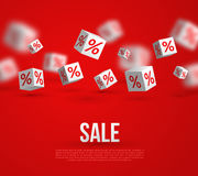 Sale Poster. Vector Illustration. Design Template Royalty Free Stock Image