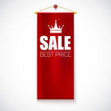 Sale Poster with vertical flag Stock Photos