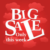 Sale poster week Stock Images