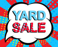 Sale poster with YARD SALE text. Advertising vector banner Royalty Free Stock Image