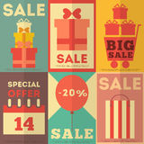 Sale Posters Collection Royalty Free Stock Image