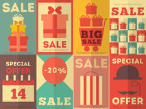 Sale Posters Collection Stock Photography
