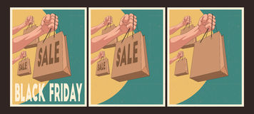 Sale posters set. Black Friday Posters. Royalty Free Stock Image
