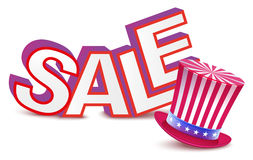 Sale Presidents Day. Uncle Sams hat Royalty Free Stock Image
