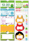Sale Price Coupon Sticker_eps Stock Photos