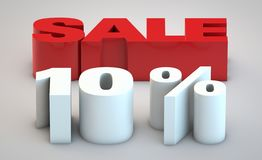 Sale - price reduction of 10. Percent vector illustration