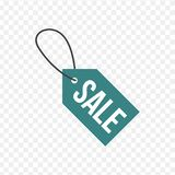 Sale, price tag icon. Sign isolated on transparent background. Vector flat design illustration royalty free illustration