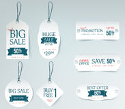 Sale price tag paper card template. Royalty Free Stock Images