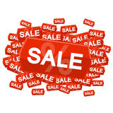 SALE on price tag Royalty Free Stock Photos