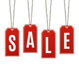 Sale. Price tags isolated on white background Royalty Free Stock Images