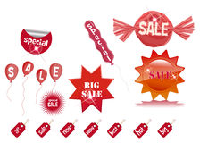 Sale prise tag labels Stock Image