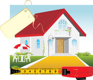 Sale of the private house Stock Photo
