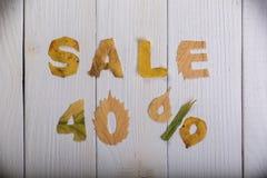 Sale 40 procent Royaltyfri Bild