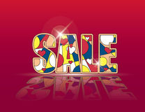 Sale promo background vector Royalty Free Stock Photo