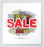 Sale promo design vector illustration