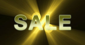 Sale promotion gold shine light flare Stock Image