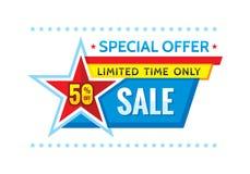Sale promotion banner - vector concept illustration. Stock Images