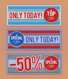Sale promotion banners Stock Images