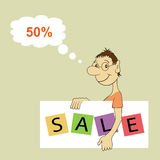 Sale Promotion Design Template Stock Photos