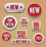 Sale promotion elements Royalty Free Stock Photos