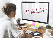 Sale Promotion Shopping Discount Stamp Concept Royalty Free Stock Photography
