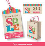 Sale promotion templates Royalty Free Stock Photos