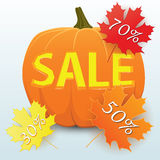 Sale pumpa stock illustrationer