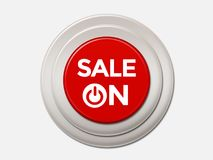 Sale On Push Button royalty free stock photo
