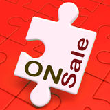 On Sale Puzzle Shows Reduction Savings Or Discounts Royalty Free Stock Photos