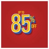 Sale rabatt upp till 85% av fastst?lld illustration f?r vektormalldesign stock illustrationer